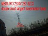 Megatro 220кв 2e23 Szc двойной контур касательной трансмиссии в корпусе Tower