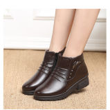 Venda por grosso de moda de alta qualidade PU brilhante tela plana de couro senhoras de calçado