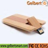 선물을%s 도매 목제 카드 USB 섬광 드라이브