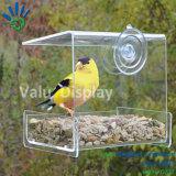 Fenêtre claire de l'acrylique Wild Bird Feeder avec des ventouses