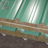 Зеленый цвет PPGI оцинкованных гофрированные стальные листы на крыше для украшения