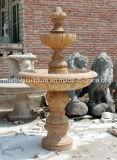 自然な石造りの旧式な大理石の噴水(SY-F126)