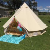 Открытый роскошный 5m 6m семьи колокола кемпинг палатки с плитой отверстие