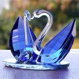 Regalo di cerimonia nuziale di cristallo dell'artigianato del cigno della decorazione di cristallo creativa della stanza