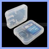 Precio al por mayor 2 en 1 caso de la tarjeta de memoria SD Card de plástico para tarjetas TF