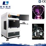 3D Laser Gegraveerde Machine van de Kubus van het Kristal voor de Winkel van de Gift online