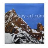 壁の装飾のためのハンドメイドのSnowy山の油絵