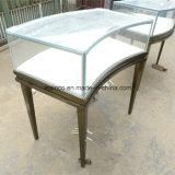 Glasschmucksache-Bildschirmanzeige-Tisch-Bronzen-Farben-Handelsschmucksache-Bildschirmanzeige