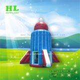 Estilo de foguete no espaço aéreo da almofada insuflável jogos de desporto de aventura como brinquedos para crianças