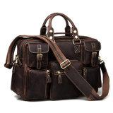 型様式のブラウンの狂気の馬の本革旅行週末袋