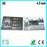 7inch LCD Bildschirm-videobroschüre für das Auto-Bekanntmachen