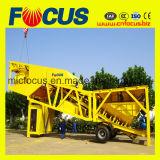 75cbm/H planta de tratamento por lotes concreta portátil, planta Yhzs75 de tratamento por lotes concreta móvel