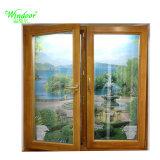 Chambre décorer PVC Fenêtre Swing en plastique à fenêtre coulissante fenêtre en vinyle avec 5mm UPVC fenêtre en verre trempé