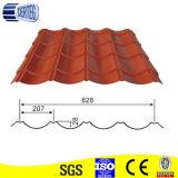 アフリカの赤くか緑または灰色のタイプは鋼鉄によって艶をかけられた屋根瓦の価格を波形を付けた