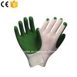 Зеленый Обрезиненные Palm рабочие перчатки
