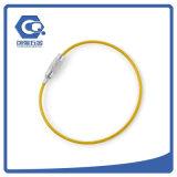 Провода нержавеющей стали оптовых продаж кольцо изготовленный на заказ ключевое для ключевого держателя