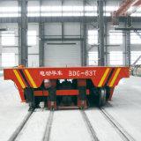 Тележка завода плавильни электрическая моторизованная Trackless регулируя на поле цемента