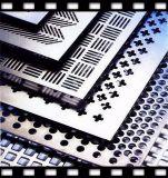 Plaque perforée en aluminium de cassette en métal