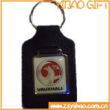 Porte-clés de cuir véritable de logo de véhicule avec la pièce en métal (YB-LK-07)