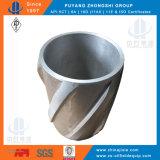 Paleta de espiral de cuerpo sólido, carcasa de aluminio rígido centralizador