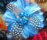 De geverfte Decoratieve Bloem DIY van de Veren van de Ambachten van Headwear van de Chiffon van de Parel Veelkleurige