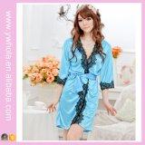 매끄러운 일본 옷 Sleepwear 열려있는 여자 레이스 단을%s 가진 섹시한 Babydoll 란제리