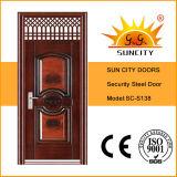 ヒンジ(SC-S138)が付いている現代トランサムデザイン安全主要な鋼鉄ドア