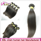 Продукт человеческих волос девственницы естественного черного цвета прямой