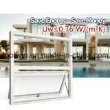 保管エネルギー単一のガラス窓が付いている白いカラーアルミニウム覆われた木製のWindows