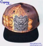 coroa cheia da impressão do chapéu de Strapback do logotipo 3D