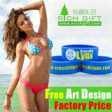 Bracelet personnalisé bon marché en bloc/encre imprimerie de silicones/en caoutchouc de bracelet