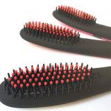 2016 nuovo arriva la spazzola ionica del raddrizzatore dei capelli con il raddrizzamento elettrico di raddrizzamento dei capelli dell'affissione a cristalli liquidi della spazzola dei capelli di Nasv del rivestimento di ceramica