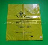 Biohazardsの使い捨て可能な医学の不用な袋、黄色、青い赤