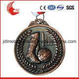 Bon marché Matériel Médailles de basket-ball en laiton avec cordon d'personnalisé