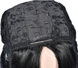 Peruca reta de seda da parte dianteira do laço das mulheres bonitas brasileiras do Virgin do cabelo humano de 100%