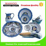 Coleção ajustada da louça dos utensílios de mesa decorativos cerâmicos de China