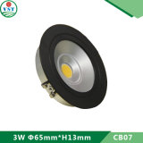 Ultra Slim 3W LED plafond Down Light Application pour l'éclairage de la zone de magasin
