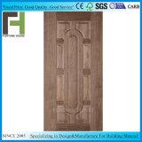 EV темный орех поверхности древесины шпона литые HDF двери кожи