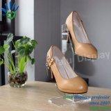 Acryl Dame Shoes Display Rack, de Tribune van de Vertoning van het Sandelhout