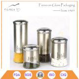 パスタ、コーヒー、砂糖、茶記憶のための1Lガラス小さなかん