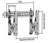 Видео нажмите для настенного монтажа VESA точная настройка Max. 600*400 (WMP 600S)