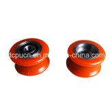 高品質の円形の固体ナイロン上の引き戸のためのハングのドアローラープーリー車輪