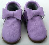 Material Verde Prewalker bebê calçados de couro genuíno