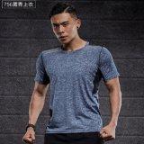 T-shirt van de Sport van de Gymnastiek van de Overhemden van de Sport van de Koker van de Mensen van Bodyshape de Droge Geschikte
