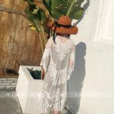نساء يغطّي [بث سويت] فوق شريط حبك [تثنيك] بيكيني شاطئ ثوب