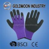 перчатки голубого акрилового латекса черноты вкладыша 7g покрытые