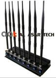 emittente di disturbo mobile senza fili registrabile Cellular/GPS/WiFi, del segnale di potere 8bands emittente di disturbo 5g