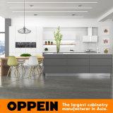 Armário elevado colorido da cozinha da laca do lustro da forma de Oppein (OP16-L11)