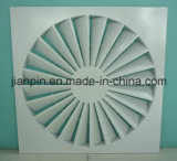 版の正方形の天井の渦巻の空気拡散器