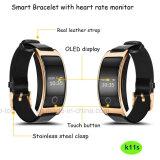 Monitor elegante del ritmo cardíaco de la presión arterial de la pulsera